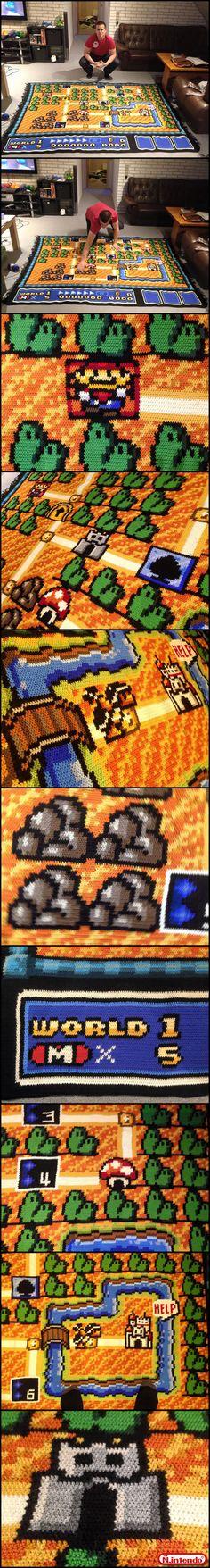 Esse Cara Fez Um Tapete Do Super Mario - Não Intendo