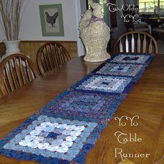 YOYO RUNNER In Shades of BLUE Vintage Fabrics by TwoOldeYoYos, $35.00