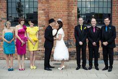 Geek Chic Wedding Party attire = using CMYK colours? Chic Wedding, Wedding Blog, Our Wedding, Dream Wedding, Wedding Stuff, Wedding Things, Geek Wedding, Wedding Shit, Wedding 2015
