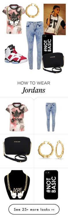 """""""dopeness #1"""" by suaveroyalty on Polyvore featuring ONLY, adidas Originals, Bling Jewelry and Michael Kors"""