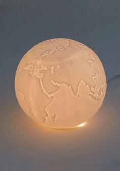 Traveling Light Lamp For the travel themed living room!