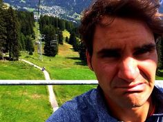 """twitter / """"rogerfederer: Don't drop the phone. Don't drop the phone. #skiliftselfie"""" - 12:08 pm edt - 23 Jul 2014"""