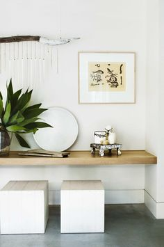 timber-shelf-white-concrete-floor-palm-beach