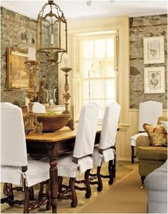 I Like The Stone Walls English CountrysideDining Room ChairsDining Chair SlipcoversDining