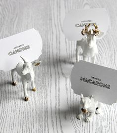 DIY Gilded Woodland Creature Place Card Holders from Confetti Pop