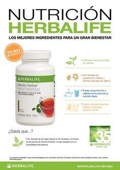 Nutrición Herbalife - Bebida Herbal, el té derivado de hojas frescas y brotes de las plantas de Camelias Sinensis, ha sido elogiado por sus propiedades antioxidantes.