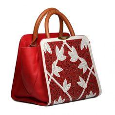 Bag / bolsas Bolsa de ombro Bolsa couro emilia carmim - Carmim Store