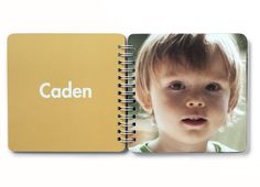 Spiral bound photo books by Pinhole Press - great DIY gift for a baby or toddler