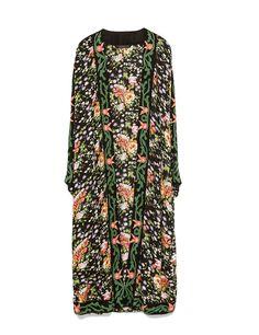 Kimono largo de flores de Zara,