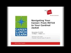 Career Lunch & Learn You Tube Channel