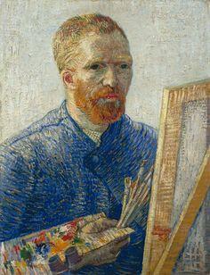 Vincent van Gogh    Şövale Önünde Otoportre / Self Portrait as an Artist    1888. Tuval üzerine yağlıboya. 65 x 50.5 cm. Vincent Van Gogh Vakfı, Amsterdam.