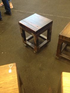 Metal and wood stools