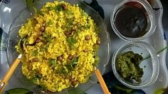 Simple Onion Poha Recipe and Nutrition Chart - YumZen Nutrition Chart, Health And Nutrition, Poha Recipe, Indian Food Recipes, Ethnic Recipes, South Indian Food, Roasted Peanuts, Chaat, Curry Leaves