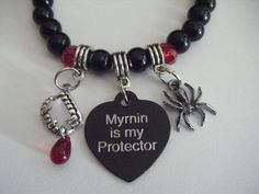 The Morganville Vampires Myrnin Is My Protector Vampire Fangs Bob The Spider Bracelet. $20.50, via Etsy.