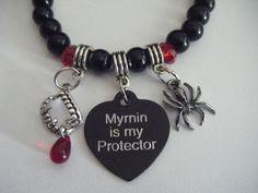 The Morganville Vampires Myrnin Is My Protector Vampire Fangs Bob The Spider Bracelet. $20.50, via Etsy.