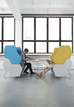 The Hexa modular seating system can be can be used to create a unique system that will work almost every kind of workspace, complementing the function and aesthetics of an interior. It helps create a hub which ensures acoustic isolation when seated within a pod. This ensures private meetings and a better flow of information and exchange of ideas.#Hexa #MacStopa #MakeYourSpace #CDW2017