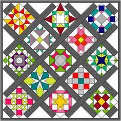 sampler quilt layouts