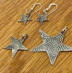 Swirly Silver Star pendant