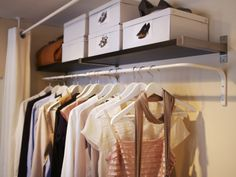 MULIG wall-mounted clothes bar - an affordable solution for a lack of built-in closet space.