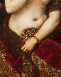 Venus with a Mirror (detail), Titian, 1555