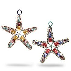 Zulu Bead Star Hanging Decoration. $12.95  #Oxfam #Christmas #fairtrade #decoration