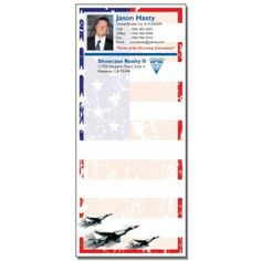 Full Color Notepads | 4th of July USA Jets