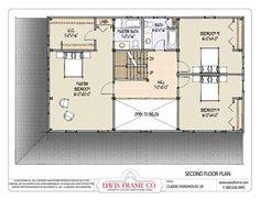 Timber Frame House Plans Second Floor Davis Frame Company