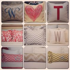 Love the bolster pillows