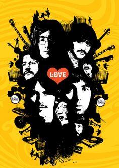 The Beatles - Love - Art Poster
