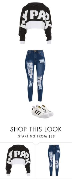 """""""november 27"""" by ottoca ❤ liked on Polyvore featuring Topshop and adidas Originals"""