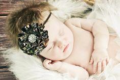 New Mossy Oak BREAK UP Camo Bling Flower Baby by haleysheadbands, $13.00