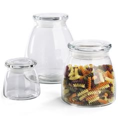glass jars for kitchen that seal air tight!
