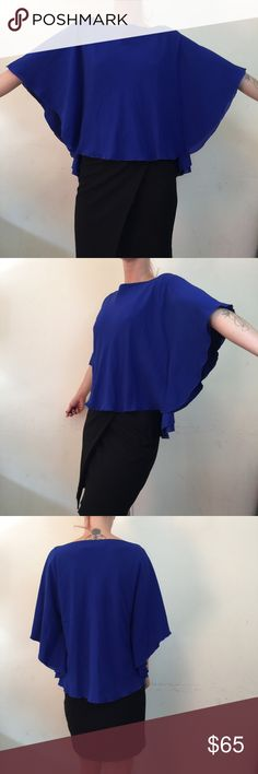 Alice + Olivia Royal Blue Silk Batwing Blouse Alice + Olivia Top royal blue with batwing sleeves and is lined. Size small and super pretty! Alice + Olivia Tops
