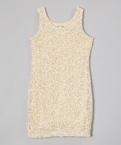 Look what I found on #zulily! Gold Shimmer Dress by Elisa B. #zulilyfinds