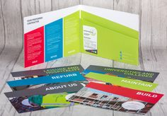 Fab landscape A5 folder for Construction Linx. Love how engaging the colours are.