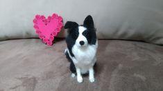 Needle Felted Dog Border Collie OOAK Custom Pet Portrait