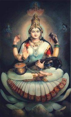 Saraswati Goddess, Kali Goddess, Goddess Art, Shiva Art, Krishna Art, Hindu Art, Bal Krishna, Krishna Statue, Shiva Shakti