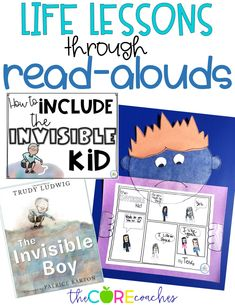 The Invisible Boy- interactive reading lesson plans. These activities are perfect to help teach growth mindset and inclusion.