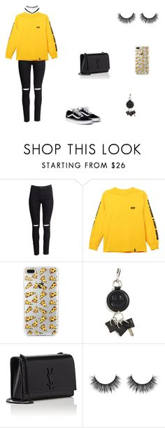 """⚡️"" by senvdberg ❤ liked on Polyvore featuring H&M, HUF, Alexander Wang, Yves Saint Laurent and Wet Seal"