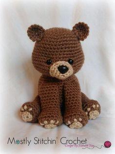 (4) Name: 'Crocheting : Bear Pattern; Black, Brown, Polar Bear