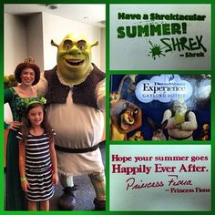 Zoe, Shrek, and Princess Fiona at Family Fun Night with Shrek and Friends