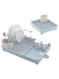 Buy Joseph Joseph Extend Expandable Dish Rack, Blue/Grey from our Dish Racks & Mats range at John Lewis & Partners. Dish Racks, Pot Rack, Joseph Kitchen, Wood Shoe Rack, Drain Away, Laundry Solutions, Standing Coat Rack, Dish Drainers, Wine Glass Holder