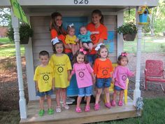 Cousin Camp - cute have each family have their own color shirts