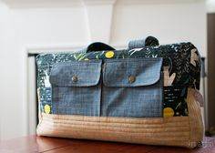 catnap cargo duffle (with mini tutorial on how to add a lining)