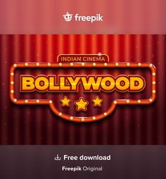 Download Bollywood Cinema Sign Realistic Design for free