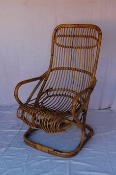 Vintage French Wicker Bobbing Chair