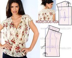 Amazing Sewing Patterns Clone Your Clothes Ideas. Enchanting Sewing Patterns Clone Your Clothes Ideas. Fashion Sewing, Diy Fashion, Ideias Fashion, Make Your Own Clothes, Diy Clothes, Blouse Patterns, Clothing Patterns, Costura Fashion, Sewing Blouses
