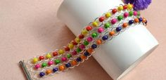 How to Make a Jump Ring Bracelet with Colorful Wood Beads | eBay