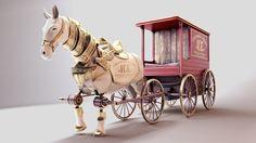 ArtStation - Bioshock Infinite - Horse Wagon, Miguel Antero