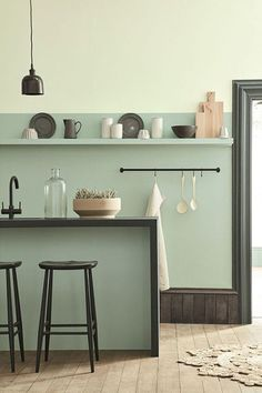 Multi-Tone It - 12 Reasons Why Sage Green Is The Coolest New Wall Color - Photos